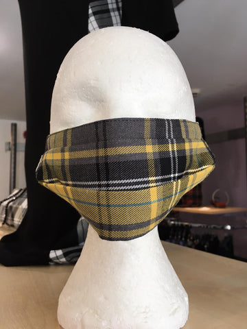 Tartan Touch Yellow Face Mask