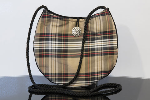 TARTAN TOUCH SILK PURSE FLOWER OF SCOTLAND