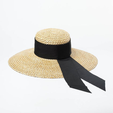 Textured Wheat Straw Wide Brim Sun Hat 681003 - muchique