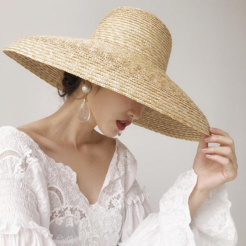 Traditional Wide Brim Beach Sun Hat 681024 - muchique
