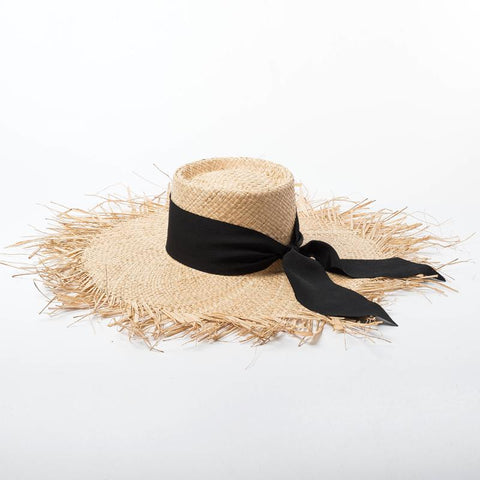 Wide Brim Raffia Straw Beach Hat 691018 - muchique
