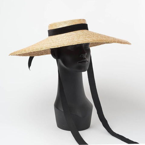 Wide Brim Wheat Straw Beach Hat 691034 - muchique