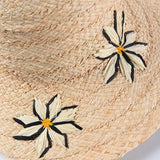 Raffia Straw Beach Hat with Embroideries 691090 - muchique