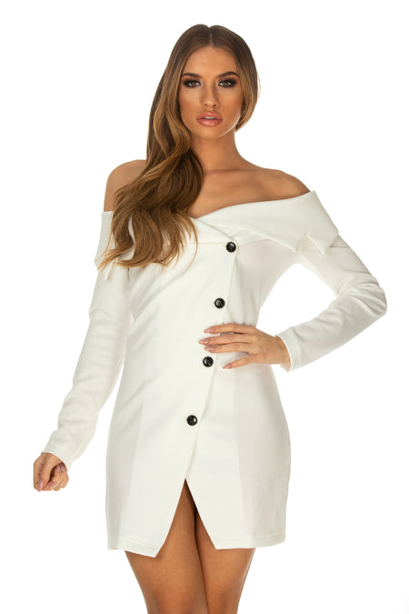 Liana Off Shoulder Blazer Dress