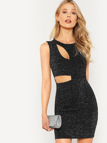 Cut Out Glitter Dress