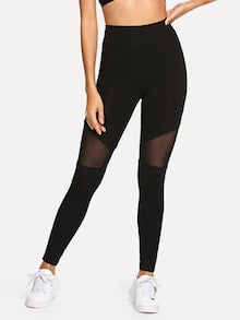 Lyvia Opaque detail leggings