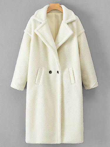 Abbey Drop Shoulder Dual Pocket Teddy Coat