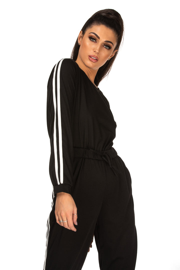 Bonnie Tape Detail Drawstring Waist Jumpsuit