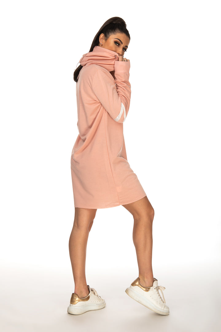 Jenna Oversized Striped Sleeve Jumper - Pink