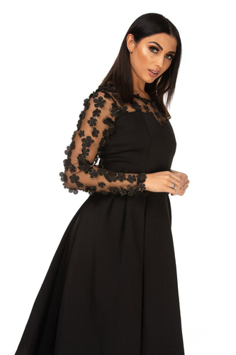 Samara Mesh Sweetheart Keyhole Back Dress