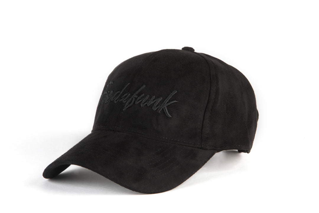 Black On Black FREDAFUNK Suede Cap
