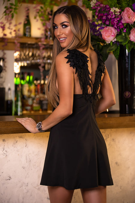 Winged Back Cami Dress