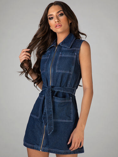 Elise Denim Trench Dress