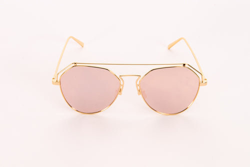 Pink Mirrored Lens Sunglasses