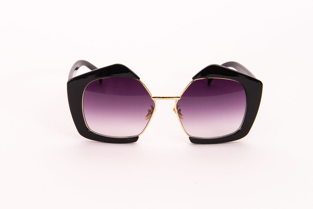 Black Pentagonal Lens Sunglasses