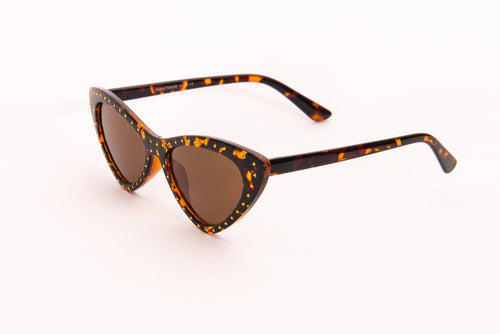 Cat Eye Tortoise Shell Effect  Sunglasses