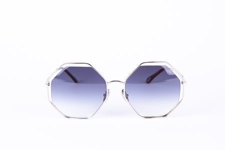 Octagonal Grey/Black Ombré Lens Sunglasses