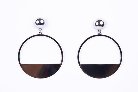Hoop Earrings With Silver Plating