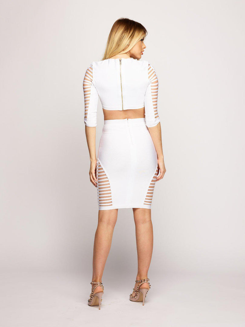 India Two Piece - White