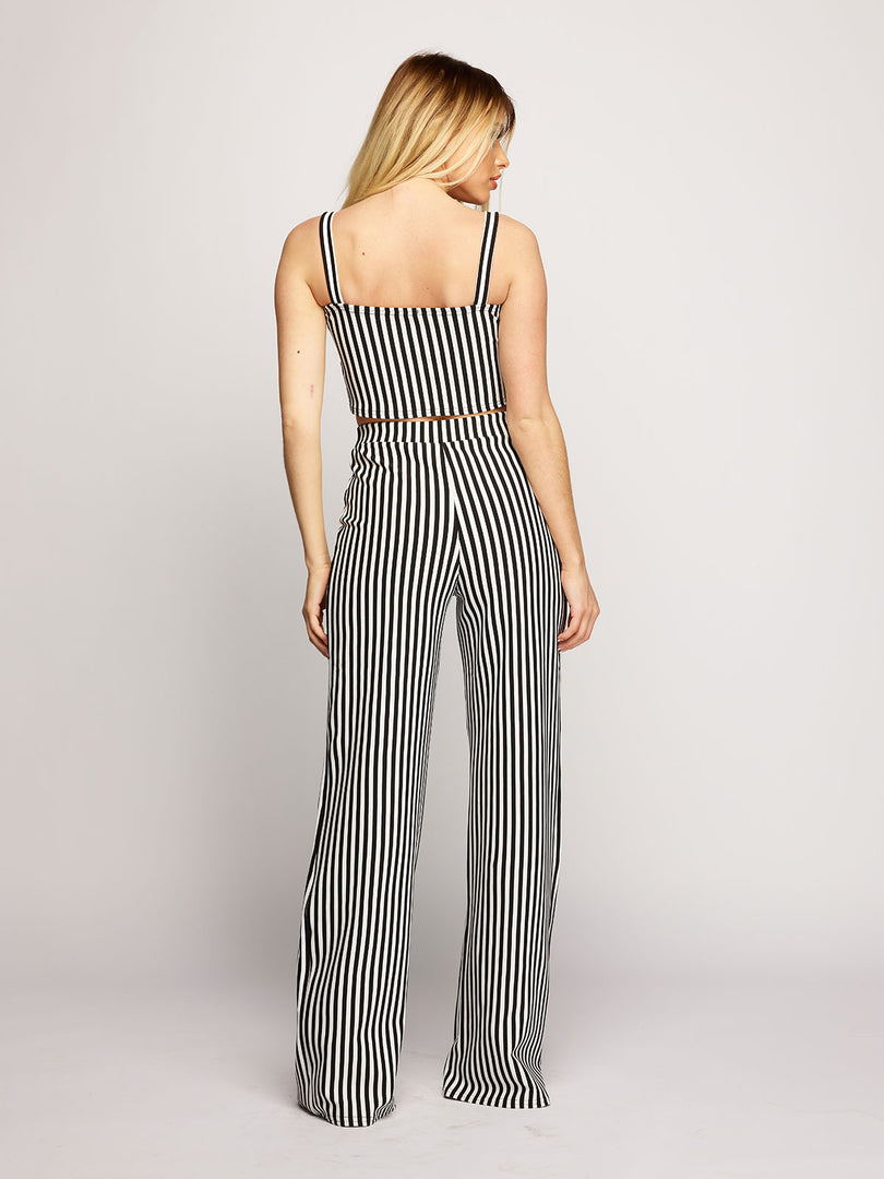 Jasmine Striped Co-ord - Black/White