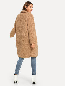 Tia Longline Teddy Coat