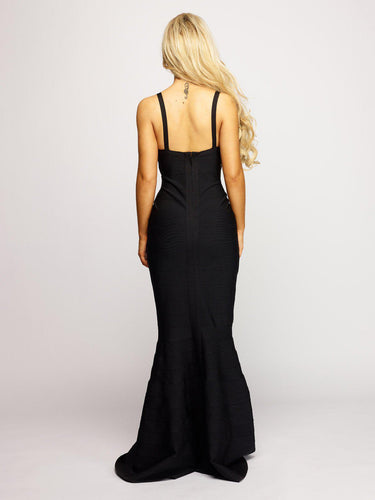Lottie Fishtail Dress - Black