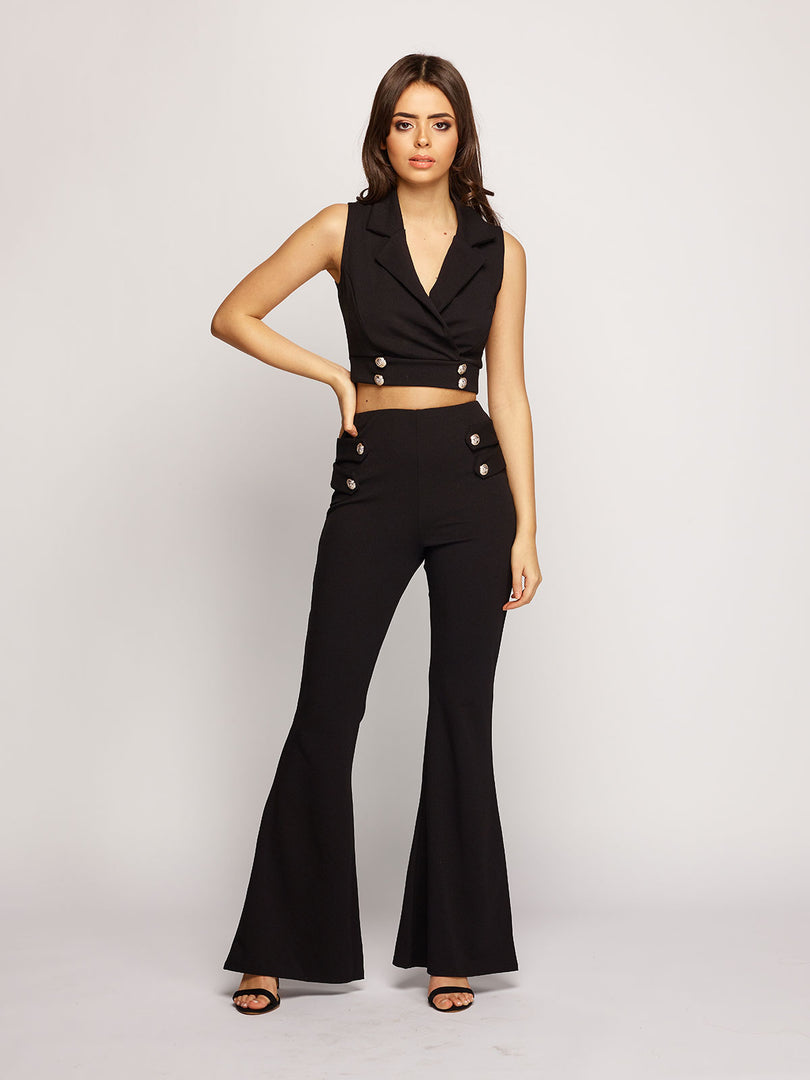 Mia Button Co-ord - Black