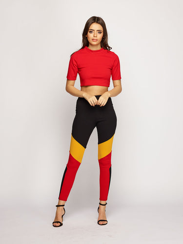 Mila Loungewear - Red/Black/Orange