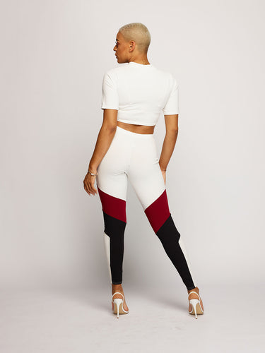 Mila Loungewear - White/Red/Black