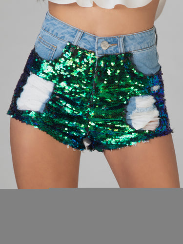 Skye Sequin Shorts
