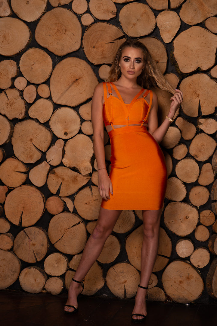 Lurelle Bandage Dress - Orange
