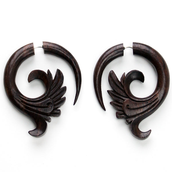 Filigree Sono Wooden Fake Gauges Spiral