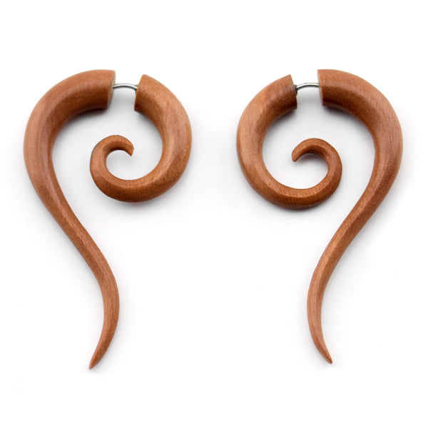 Saba Wooden Tail Spiral Fake Gauges
