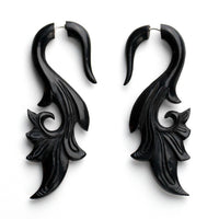 Savanna Curl Fake Gauges Horn Earrings