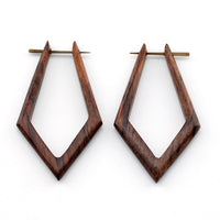 Pointed Hoops Sono Wooden Post Earrings