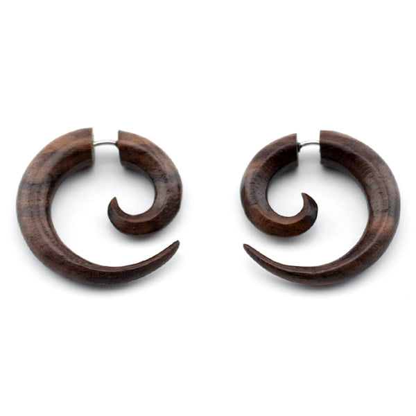 Sono Wooden Spiral Fake Gauges