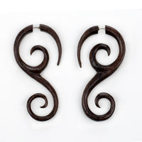Vine Spirals Sono Wood Fake Gauges