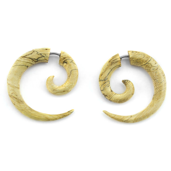 Tamarind Wooden Spiral Organic Fake Gauges
