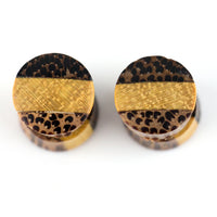 Tri Wood Fake Gauges Plugs