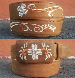 Woman Belt W/ White stitch for Rodeo Woman Boots freE shipping LOSLEYVA2019