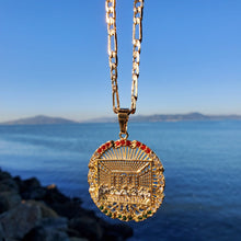 Load image into Gallery viewer, 18k plated gold and silver chain and pendant