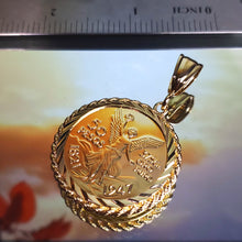 Load image into Gallery viewer, 0047 centenario 14k  plated gold pendant