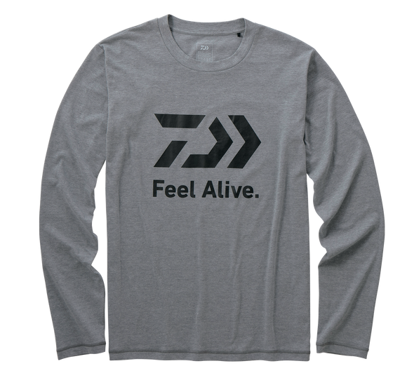 L/S FEEL ALIVE T SHIRT- GREY