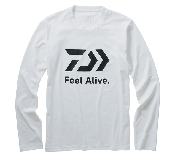 L/S FEEL ALIVE T SHIRT- WHITE