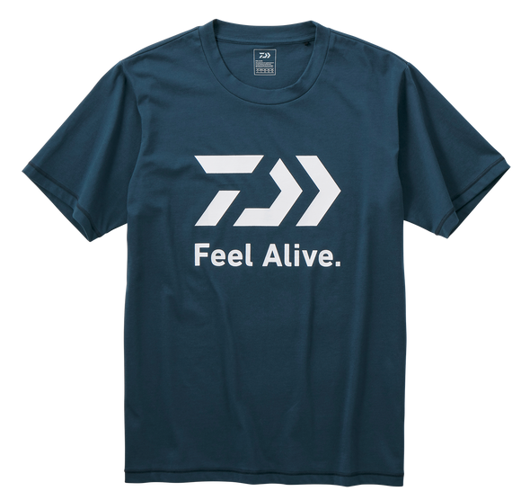 FEEL ALIVE S/S T SHIRT- RIVER BLUE