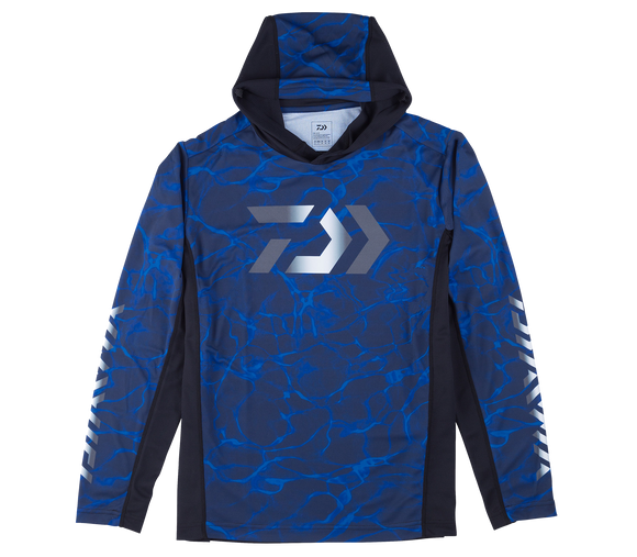 SPLASH FISHING SHIRT WITH HOOD- BLUE