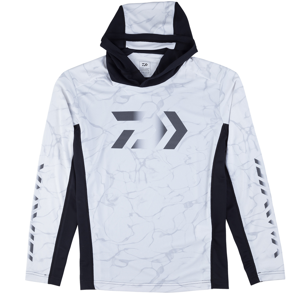 SPLASH FISHING SHIRT WITH HOOD- WHITE
