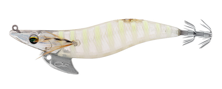 EMERALDAS NUDE 35 SQUID JIG GLOW STRIPE