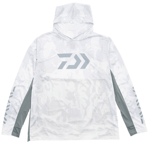 Hex Hooded Jersey- White
