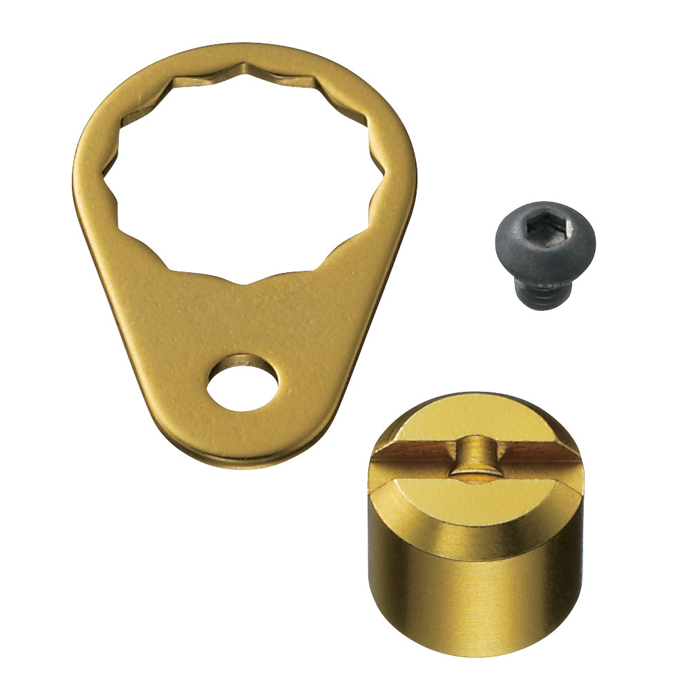 SLPW B/C Retainer/Pawl Nut Cover Kit/Gold